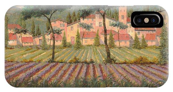 Lavender iPhone Case - Il Villaggio Tra I Campi Di Lavanda by Guido Borelli