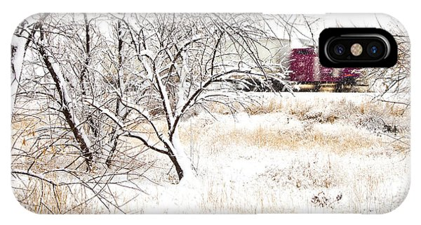 Trucking iPhone Case - I'll Be Home For Christmas by Theresa Tahara