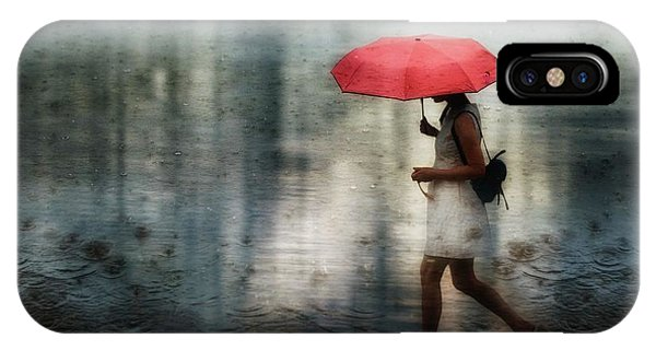 Umbrella iPhone Case - I'll Never Get Through This Alone... by Charlaine Gerber