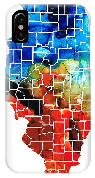 Rockford iPhone Case - Illinois - Map Counties By Sharon Cummings by Sharon Cummings