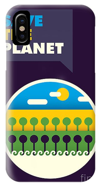 Leave iPhone Case - Illustrated Ecology Poster In Color by Radoman Durkovic