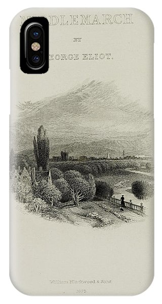 Illustrated Title Page Of Middlemarch IPhone Case