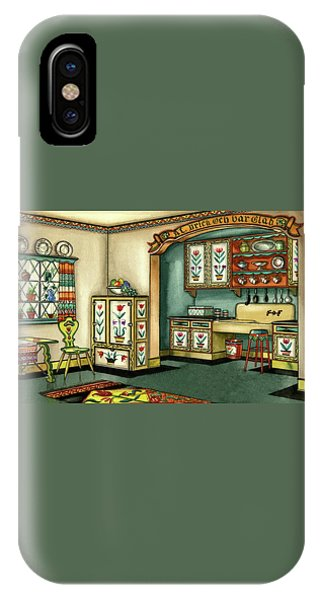 Illustration Of A Colorful Swedish Kitchen IPhone Case