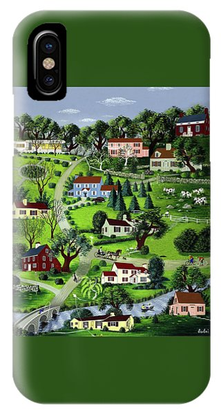 Illustration Of A Village IPhone Case