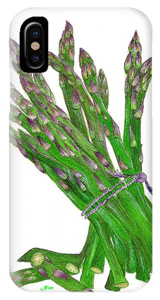 Illustration Of Asparagus IPhone Case