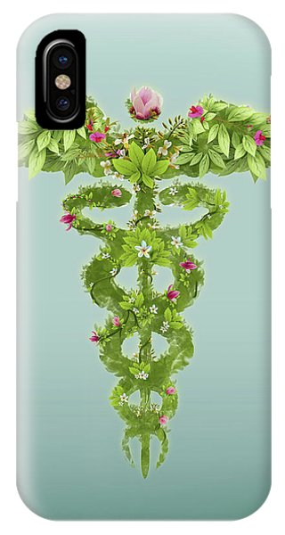 Illustration Of Caduceus Symbol Phone Case by Fanatic Studio / Science Photo Library