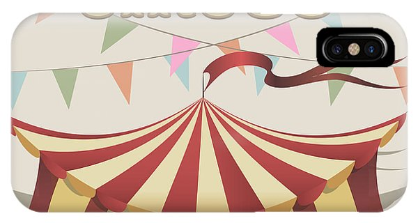 Celebration iPhone Case - Illustration Of Carnival Tent Drawn In by Bogadeva1983