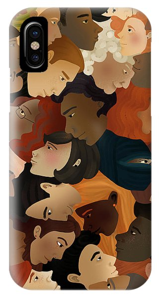 Illustration Of Crowd Phone Case by Fanatic Studio / Science Photo Library