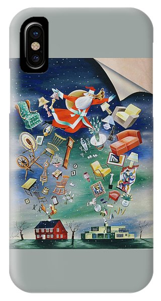 Illustration Of Santa Claus IPhone Case