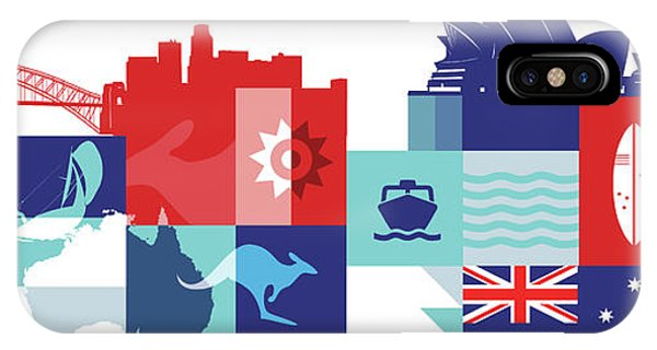 Illustration Of Tourist Attractions In Australia Phone Case by Fanatic Studio / Science Photo Library