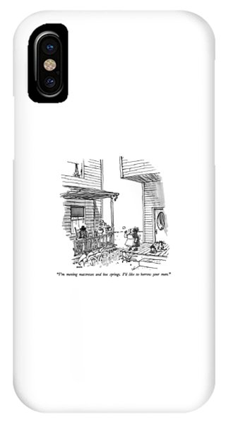 Debts iPhone Case - I'm Moving Mattresses And Box Springs.  I'd Like by George Booth
