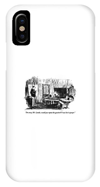 Repeat iPhone Case - I'm Sorry, Mr. Landis, Would You Repeat by Robert Weber