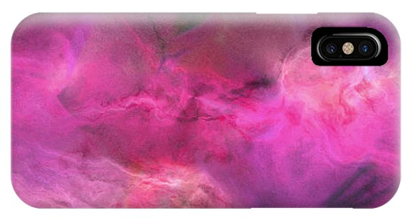 IPhone Case featuring the mixed media Imagination In Ruby Fire - Abstract Art by Jaison Cianelli