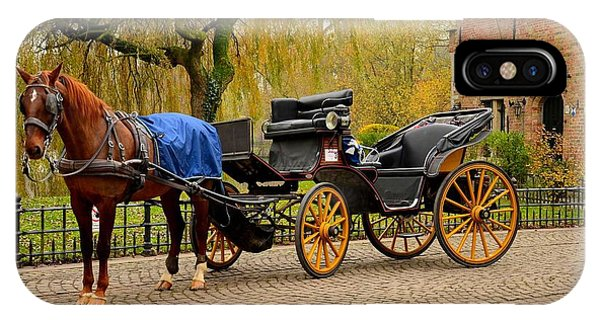 Immaculate Horse And Carriage Bruges Belgium IPhone Case