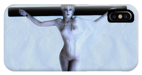 Frau iPhone Case - Immerse Crucifix by Ramon Martinez