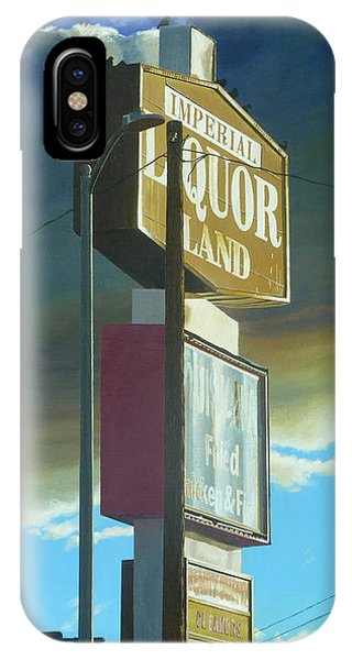 Neon iPhone Case - Imperial Liquor Land by Michael Ward