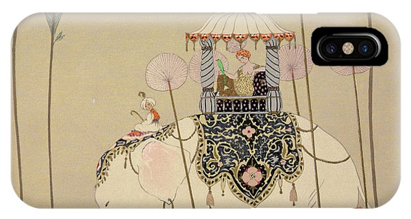 Parasol iPhone Case - Imperial Procession by Georges Barbier