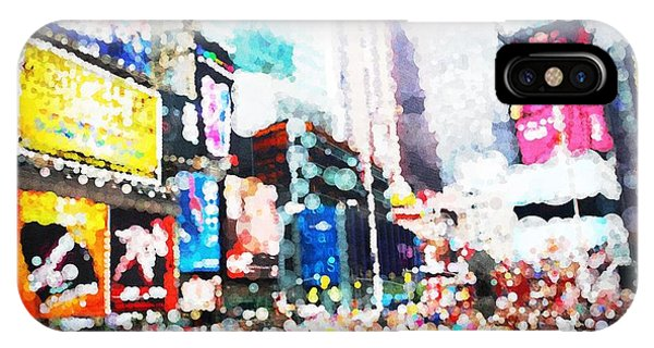 Impression Of Times Square IPhone Case