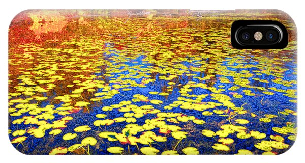 Waterlily iPhone Case - Impression Of Waterlily Pond by Charline Xia