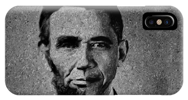 Impressionist Interpretation Of Lincoln Becoming Obama IPhone Case
