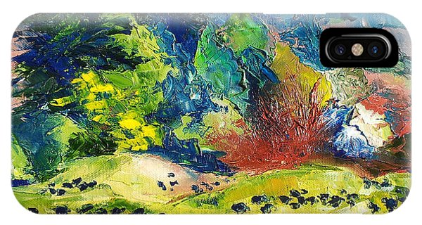 Impressionist Landscape With Cows Fine Art Oil Painting IPhone Case