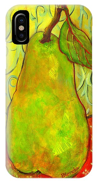 Impressionist Style Pear IPhone Case