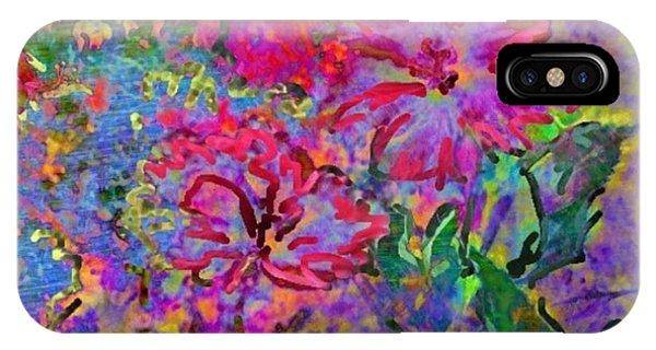 Impressionistic Magenta Hibiscus - Square IPhone Case
