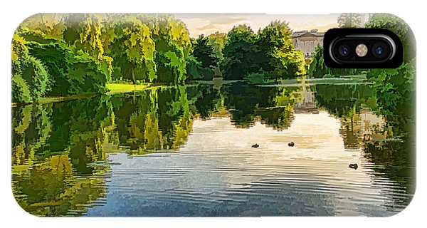 Treeline iPhone Case - Impressions Of Summer - St James's Park Lake Reflections by Georgia Mizuleva
