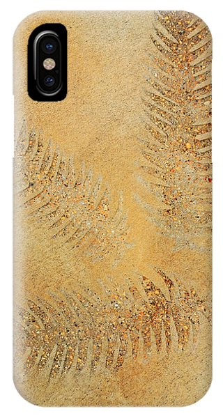 Fossil iPhone Case - Imprints - Abstract Art By Sharon Cummings by Sharon Cummings