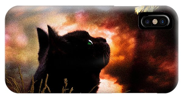 Uplift iPhone Case - In A Cats Eye All Things Belong To Cats.  by Bob Orsillo