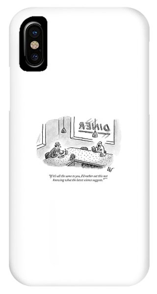 In A Diner, A Man Holding A Hamburger Speaks IPhone Case