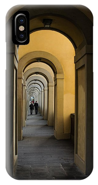 In A Distance - Vasari Corridor In Florence Italy  IPhone Case