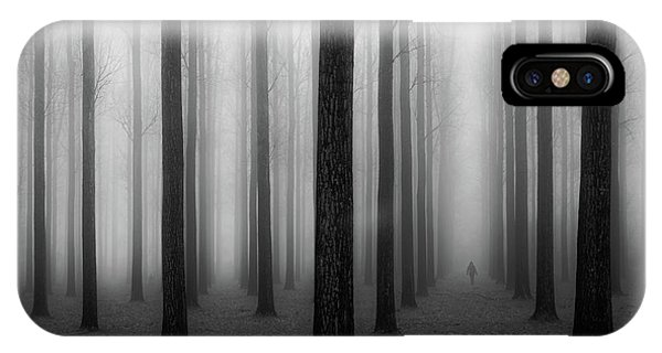 Evening iPhone Case - In A Fog by Jochen Bongaerts