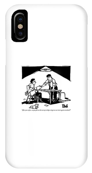 In A Stereotypical Interrogation Room IPhone Case