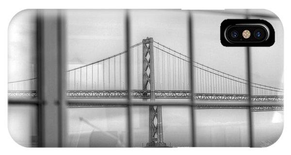 in a window the Bay Bridge IPhone Case