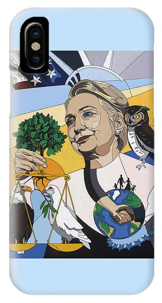 Hillary Clinton iPhone Case - In Honor Of Hillary Clinton by Konni Jensen