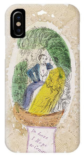 'in Love I Hope To Conquer' A Couple Phone Case by Mary Evans Picture Library