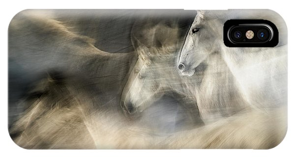 White Horse iPhone Case - In Motion by Milan Malovrh