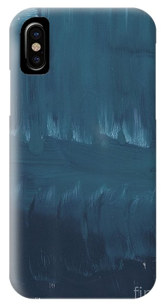 Blue Abstracts iPhone Case - In Stillness by Linda Woods
