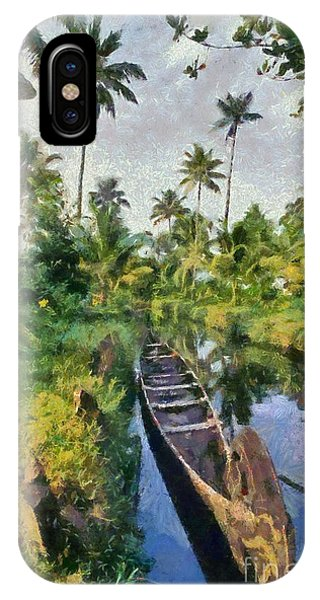 In The Backwaters Of Kerala IPhone Case