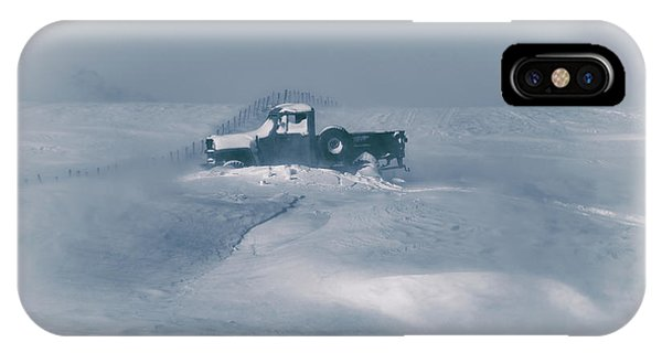 Winter iPhone Case - In The Blizzard by Christian Duguay