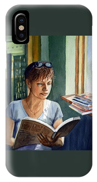 Reading iPhone Case - In The Book Store by Irina Sztukowski