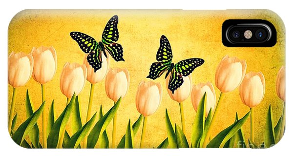 New Hampshire iPhone Case - In The Butterfly Garden by Edward Fielding