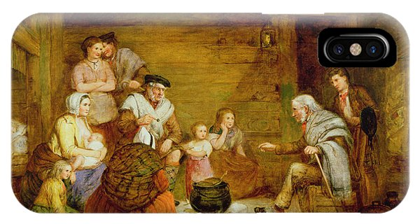 In The Crofters Home, 1868 IPhone Case