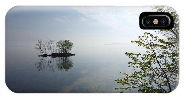 In The Distance On Mille Lacs Lake In Garrison Minnesota IPhone Case