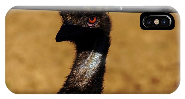 In The Eye Of The Emu Phone Case by Michael Courtney