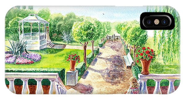 Porch iPhone Case - In The Garden by Irina Sztukowski