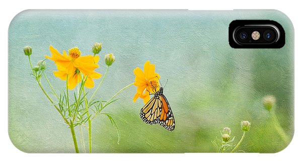 In The Garden - Monarch Butterfly IPhone Case