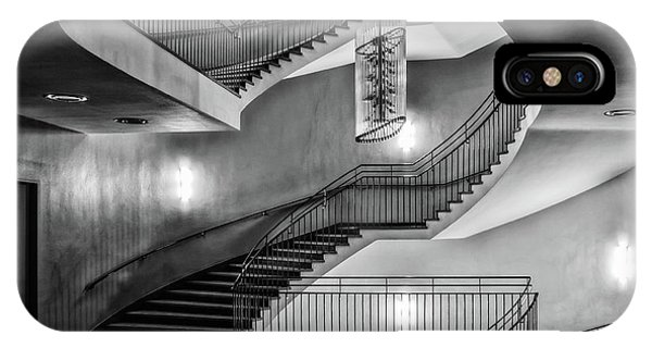 Staircase iPhone Case - In The Hallway by Peter Pfeiffer