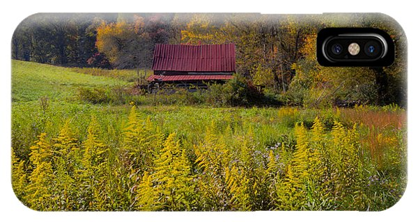 Chilhowee iPhone Case - In The Heart Of Autumn by Debra and Dave Vanderlaan